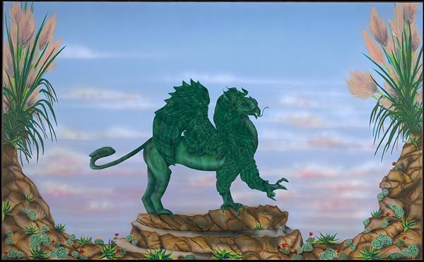 The Malachite Griffin  Mythical Stone Gardens Collection