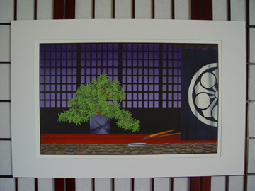 "Small white matte print of Beauty Of The Bonsai ""Moment Of Rest""."