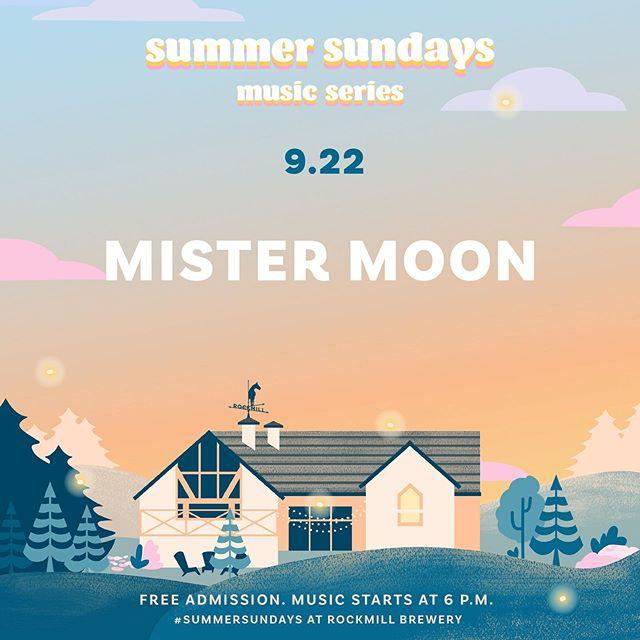 FREE SHOW, KIDZ  Sunday 6-7pm  @rockmillbrewery  #mistermoon #rockmillbrewery #summersundays #mistermoonmakesmusic #livemusic