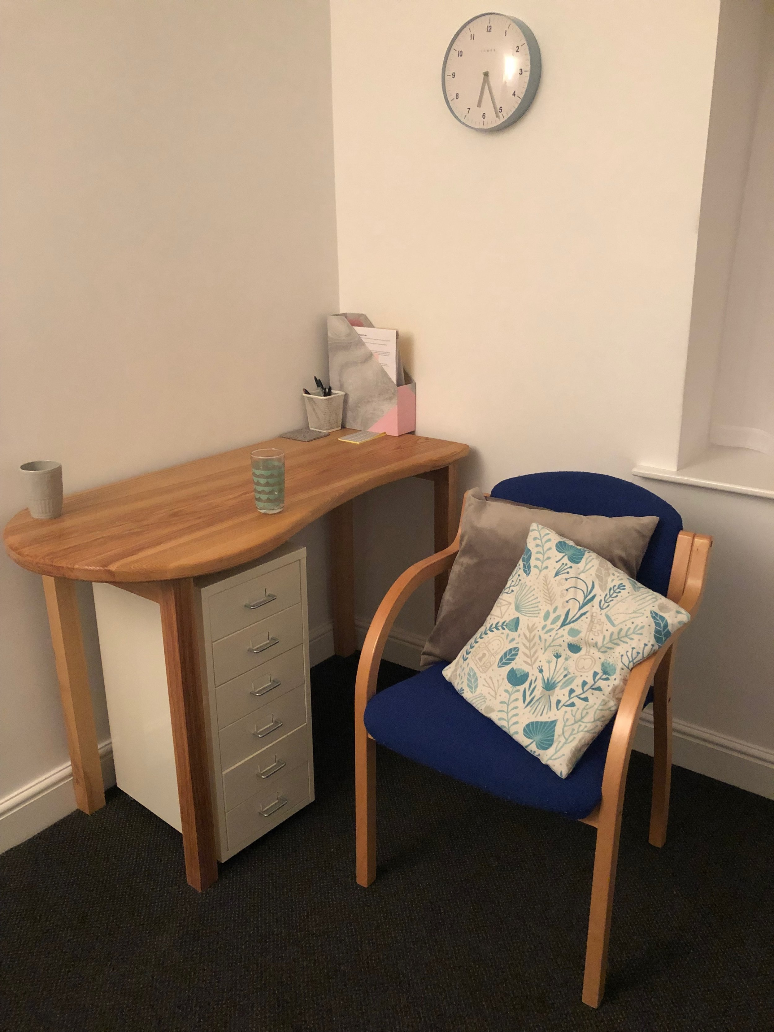 My counselling room at Bodyfix, Silsden