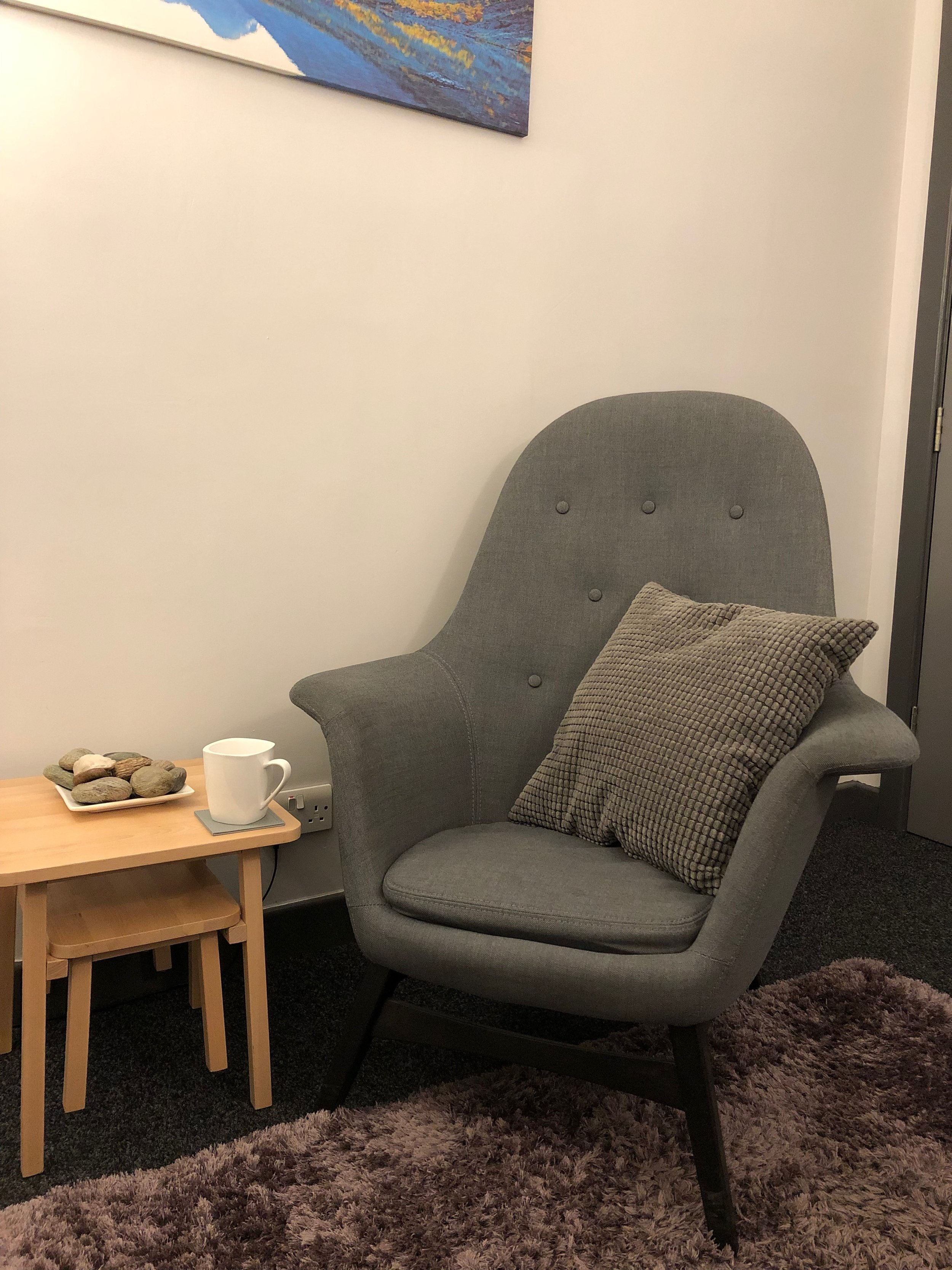 One of the counselling rooms at Cavendish Business Centre