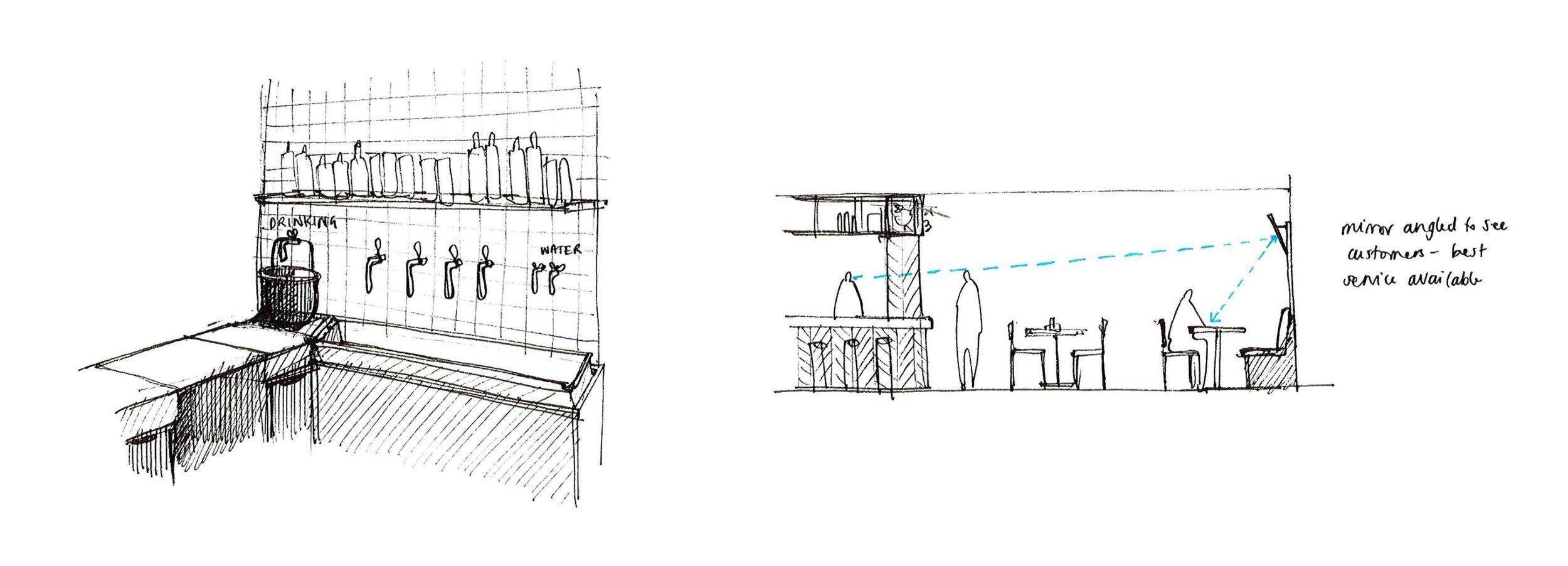 Pigsty Interior Sketches