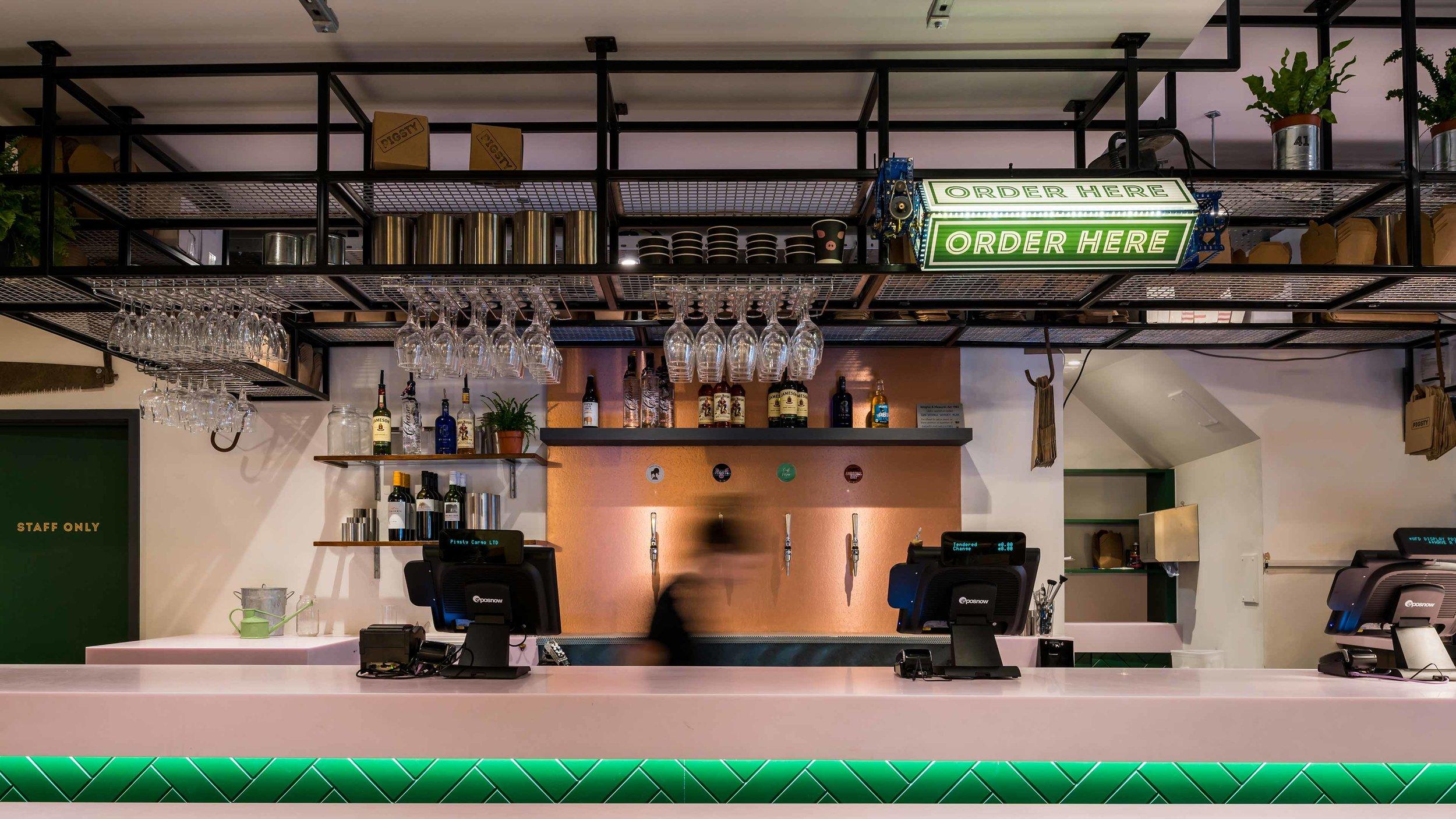 Pigsty Interior Bar Counter
