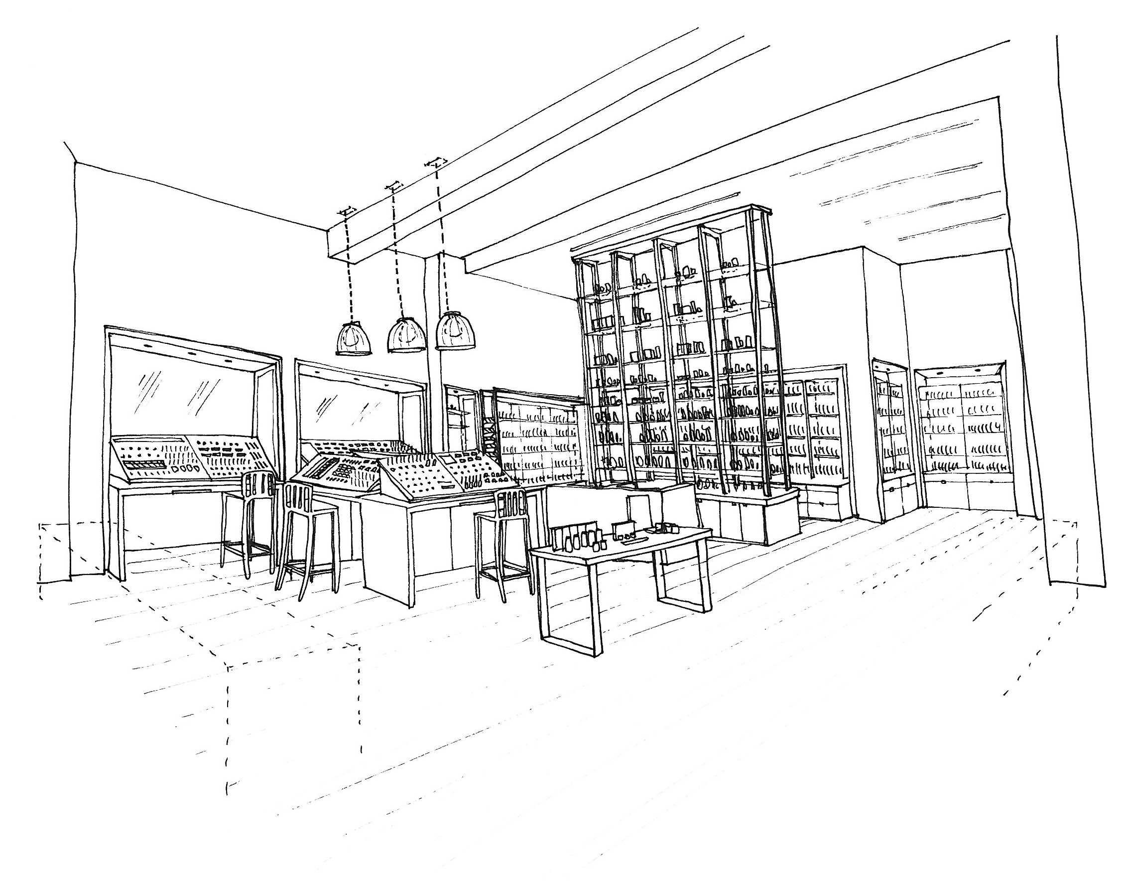 Space NK Regent Street Sketch
