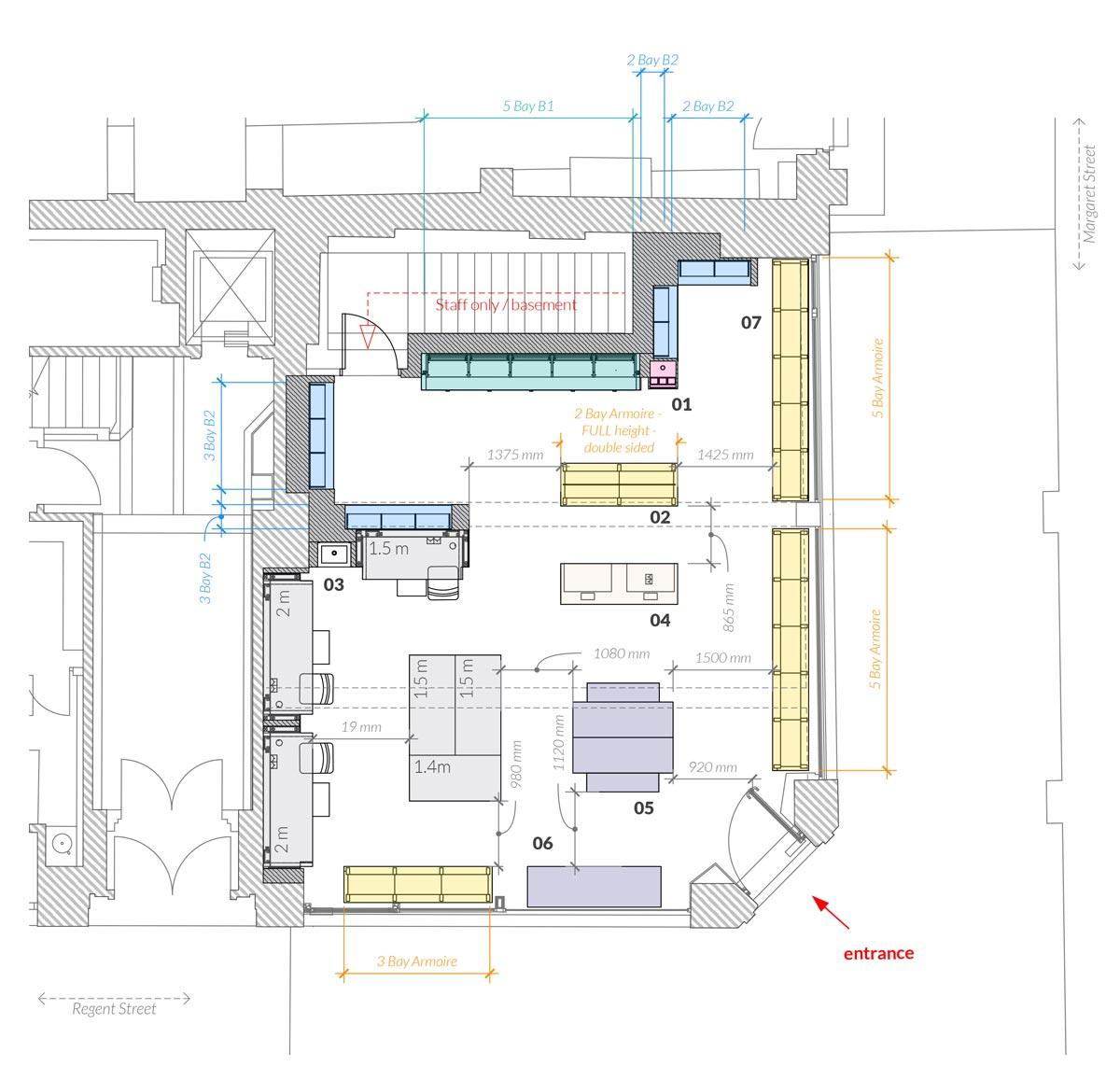 Space NK Regent Street Plans