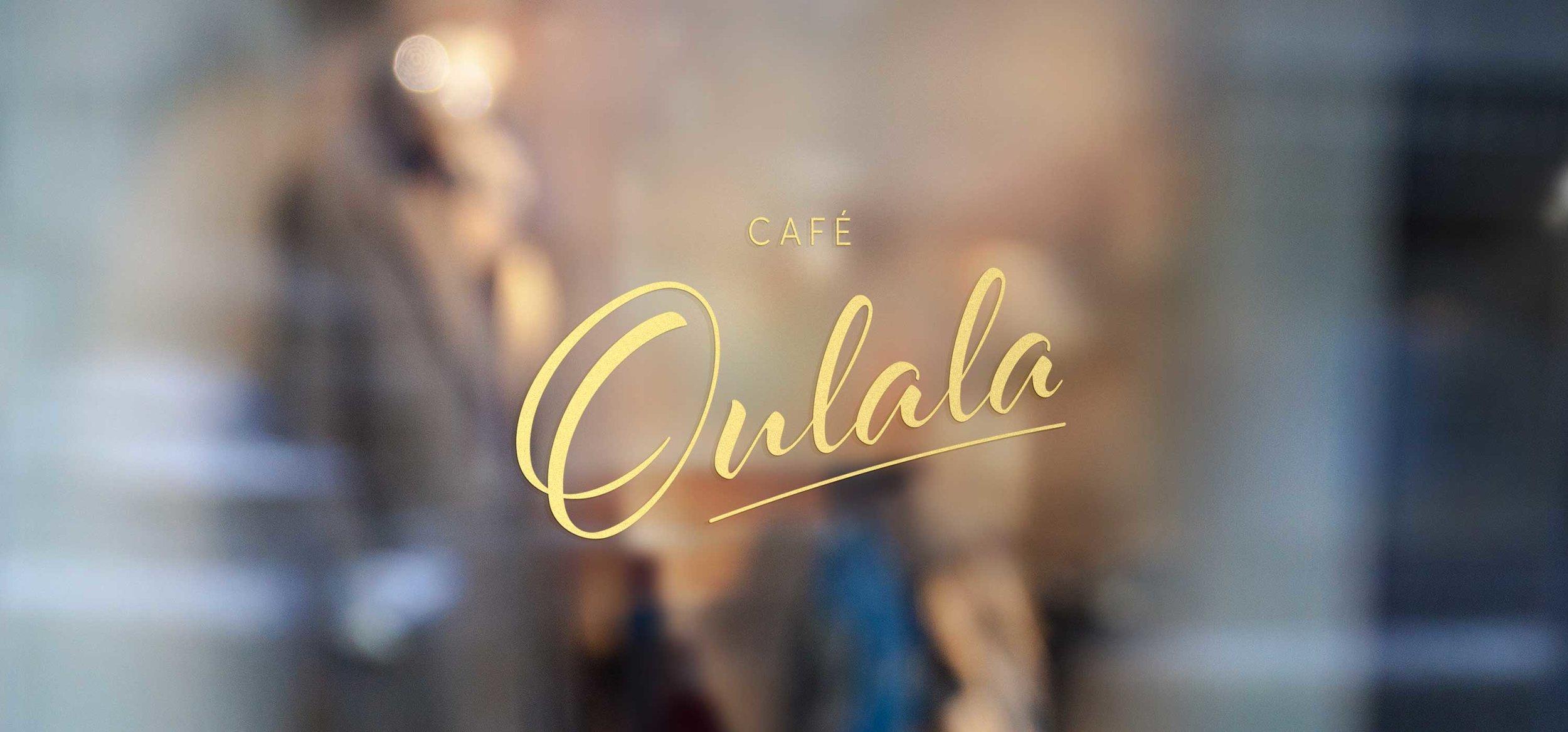 Cafe Oulala Logo Window