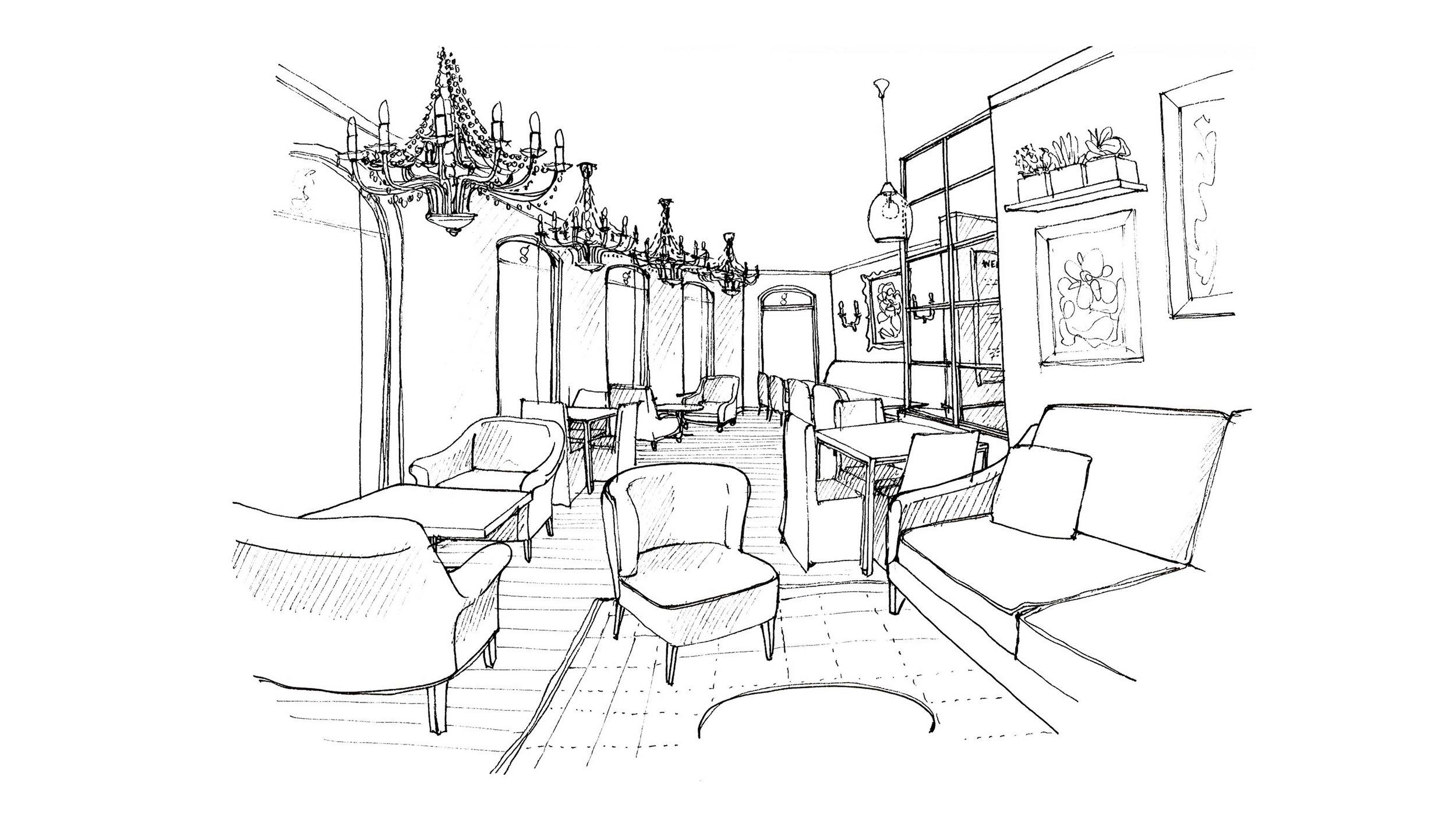 Cafe Oulala Sketch