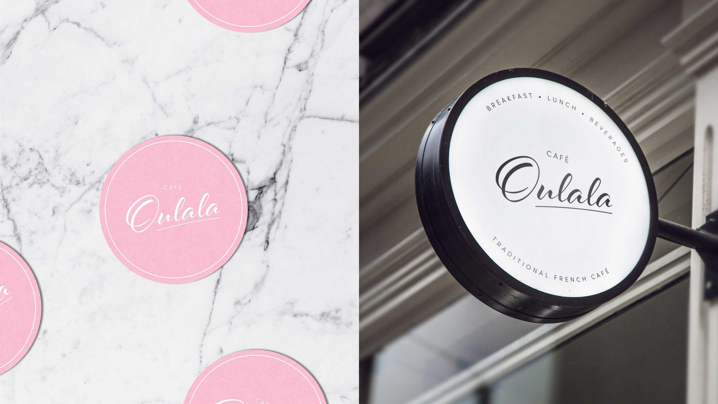 Cafe Oulala Logo Sign