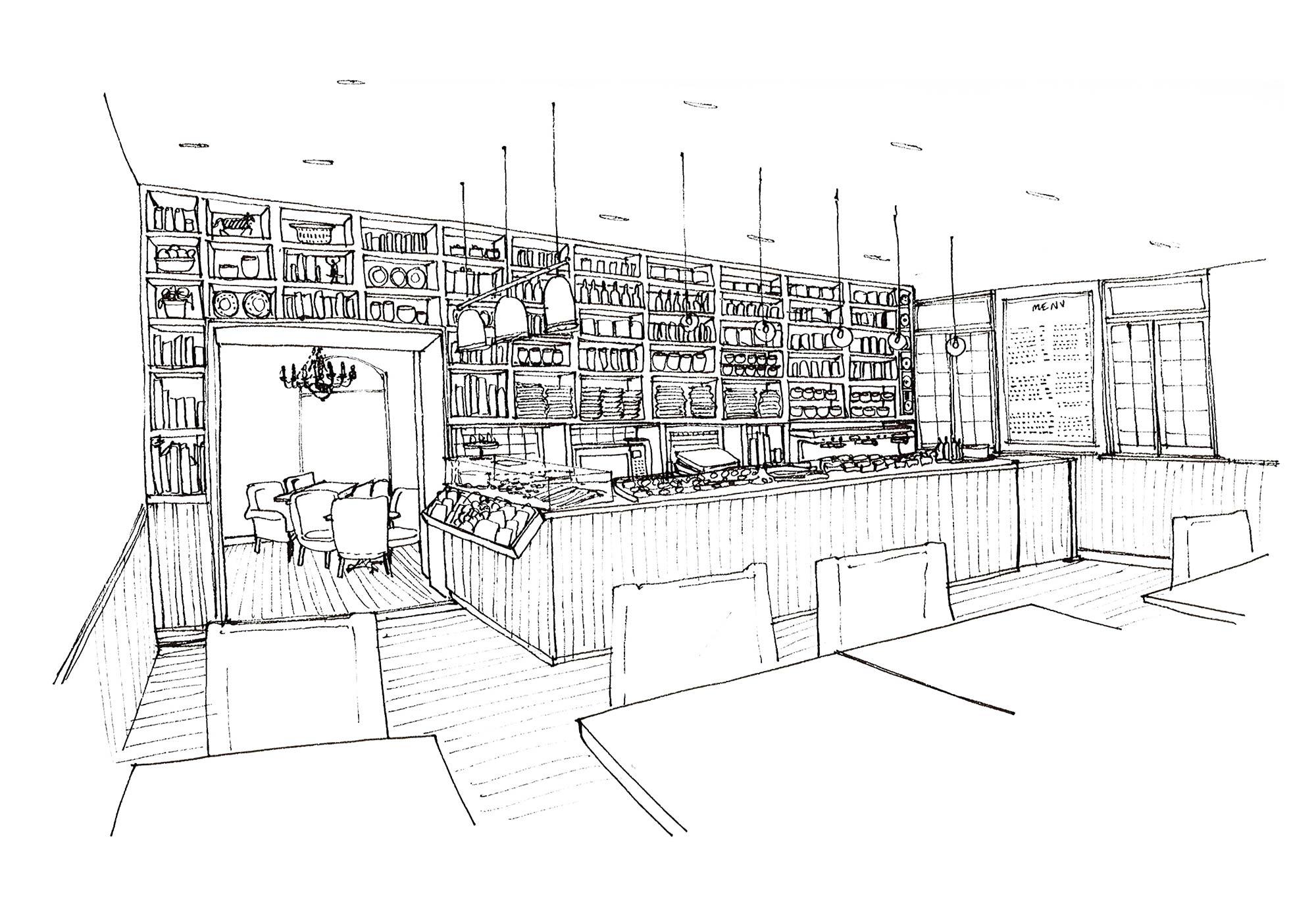 Cafe Oulala Sketch Visual