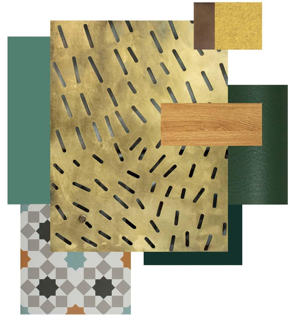 Ensemble Wells Restaurant Materials Palette