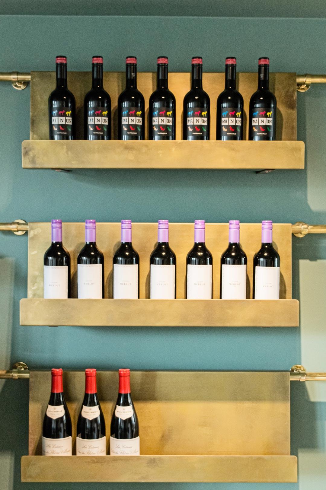Ensemble Wells Restaurant Wine Shelf Detail