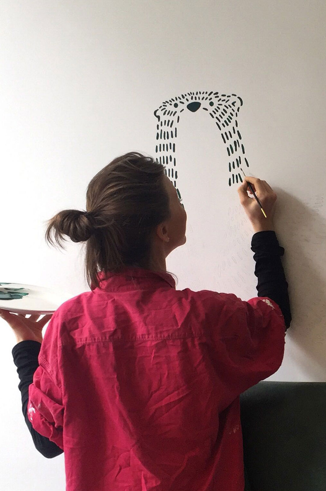 Ensemble Wells Restaurant Illustration Hand Painting