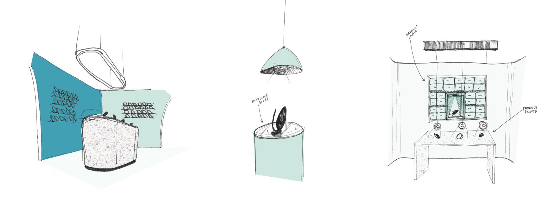 Elvie Exhibition Sketches