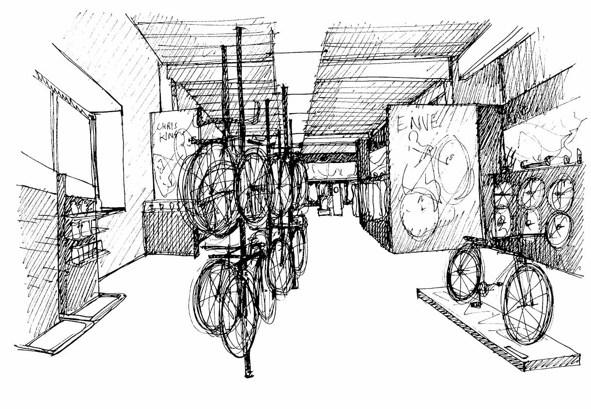 Saddleback Showroom Sketch
