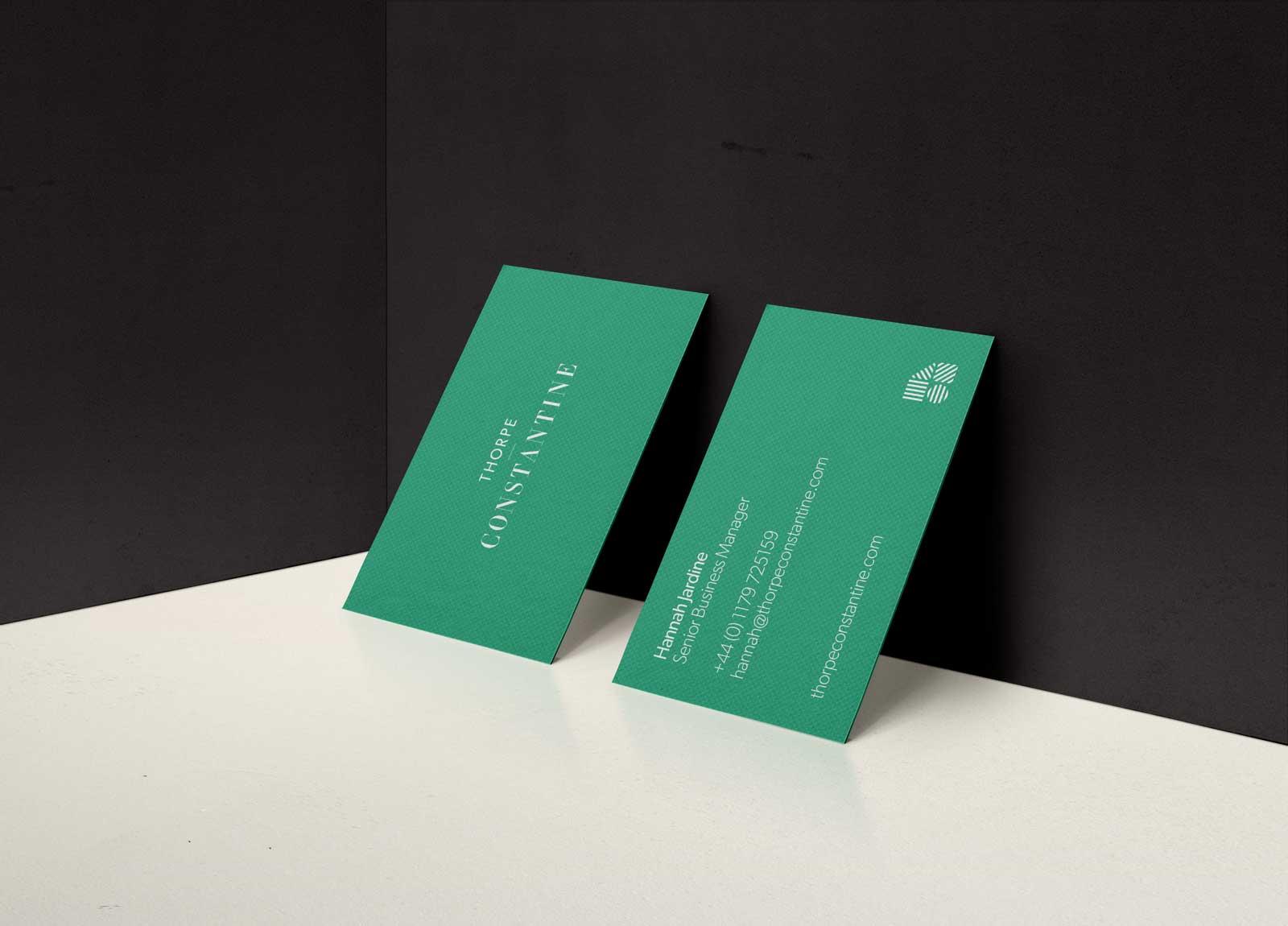 Thorpe Constantine Branding Business Card