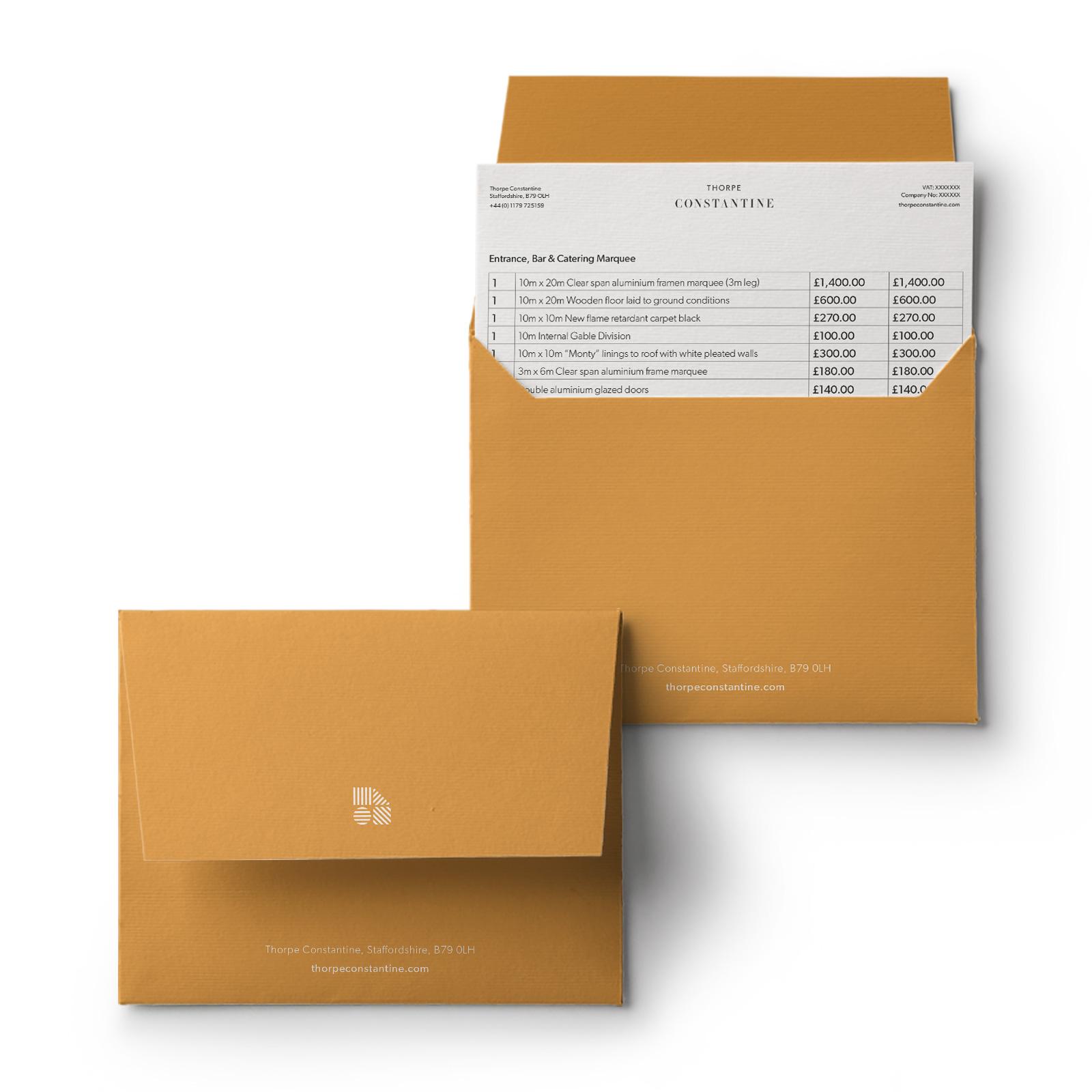 Thorpe Constantine Branding Envelope