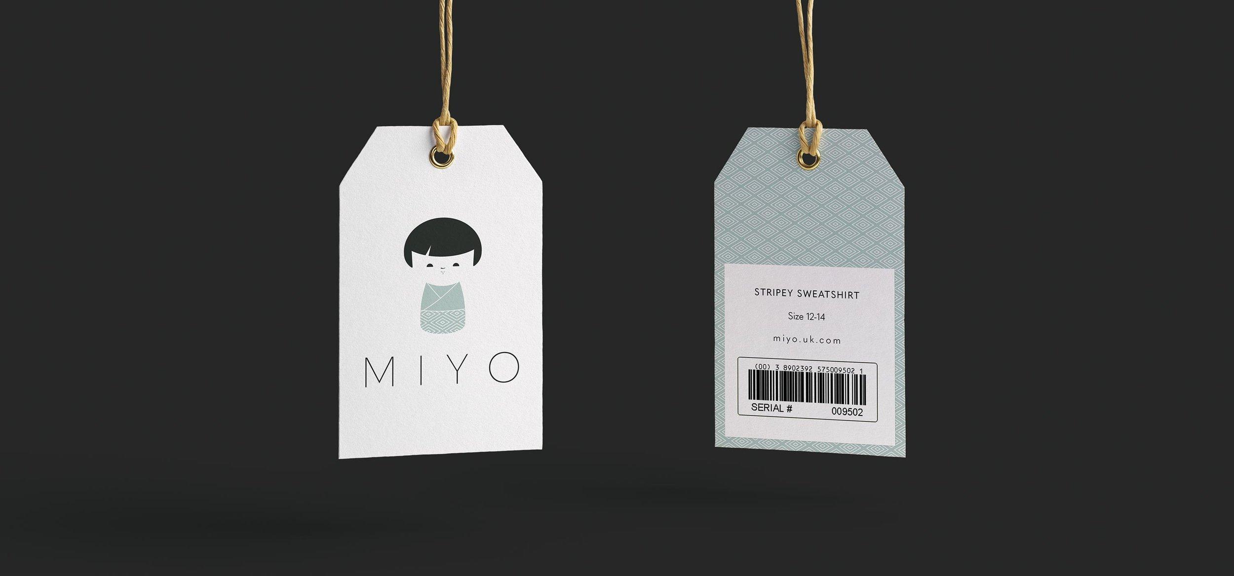 Miyo Branding Logo Swing Tag
