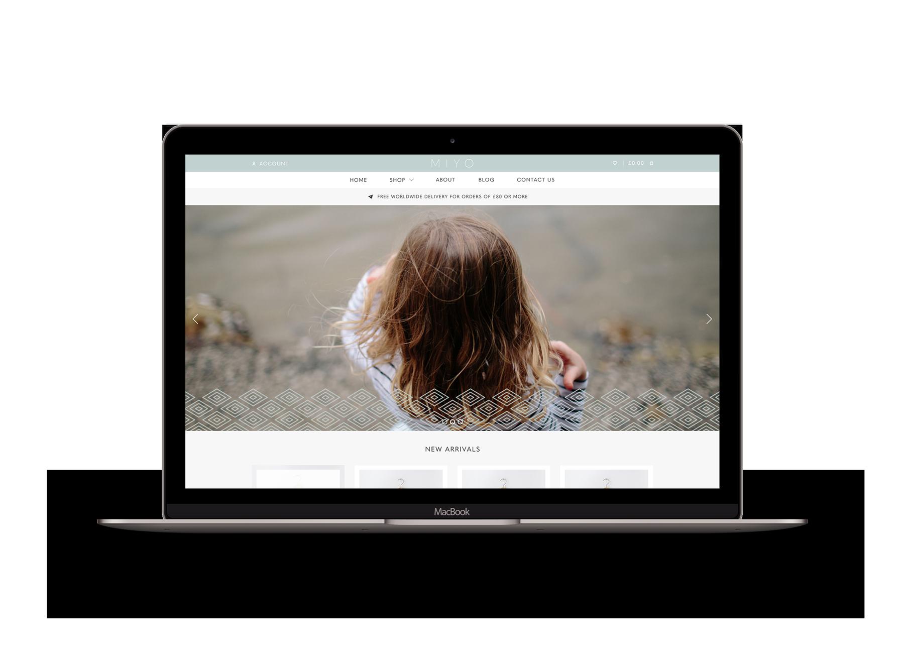 Miyo Branding Website Landing pgae