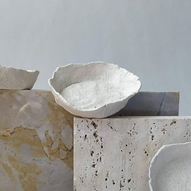 Fresh batch of Handmade Paper Clay Bowls.  These beautiful handmade bowls are available on pre-order at a minimum of 20 bowls.  #kotbacalleja #handmadebowls #newbatch #stonemeetspaper #paperclay #paperbowls #handcrafted #preodertoday #contemporarycrafts #local #rabat #malta #littlegifts #purelydecorative #weddingfavours #contemporaryweddingfavours #supportlocal