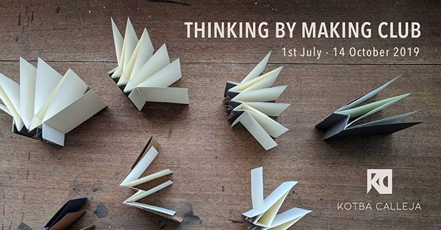 Due to popular demand we will be organising weekly guided bookbinding sessions for adults every Monday evening. The sessions will take place at Studio Solipsis, Rabat between 6-8PM from the 1st July to the 14th October 2019.  To register please click the link below: https://www.kotbacalleja.net/shop/thinkingbymakingclub  More info & queries: info@kotbacalleja.net  #kotbacalleja #thinkingbymaking #guidedsessions #bookbinding #handmade #foradults #eveningclasses #rabat #studiosolipsis #malta