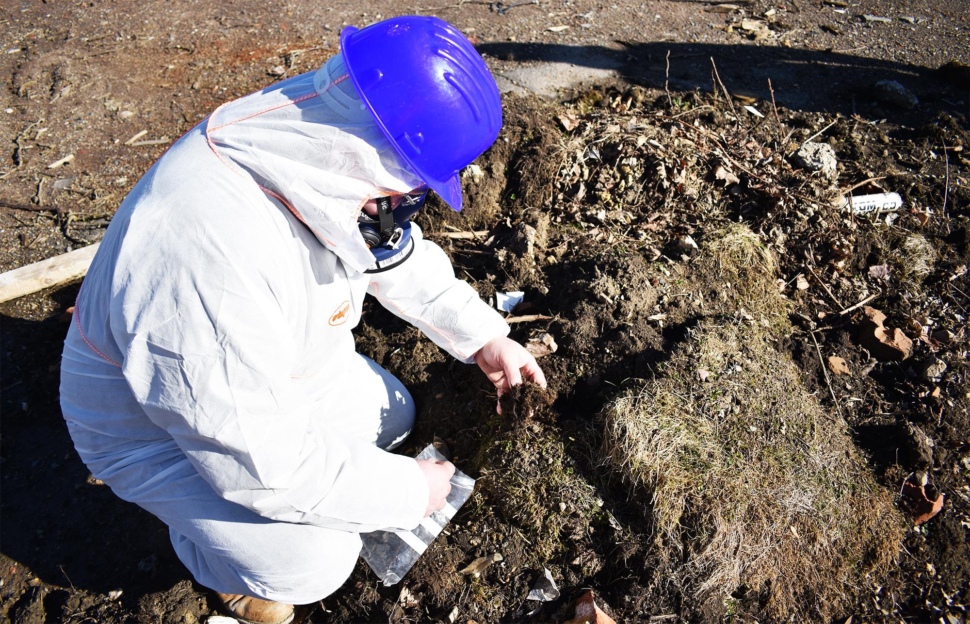 Contaminated ground -