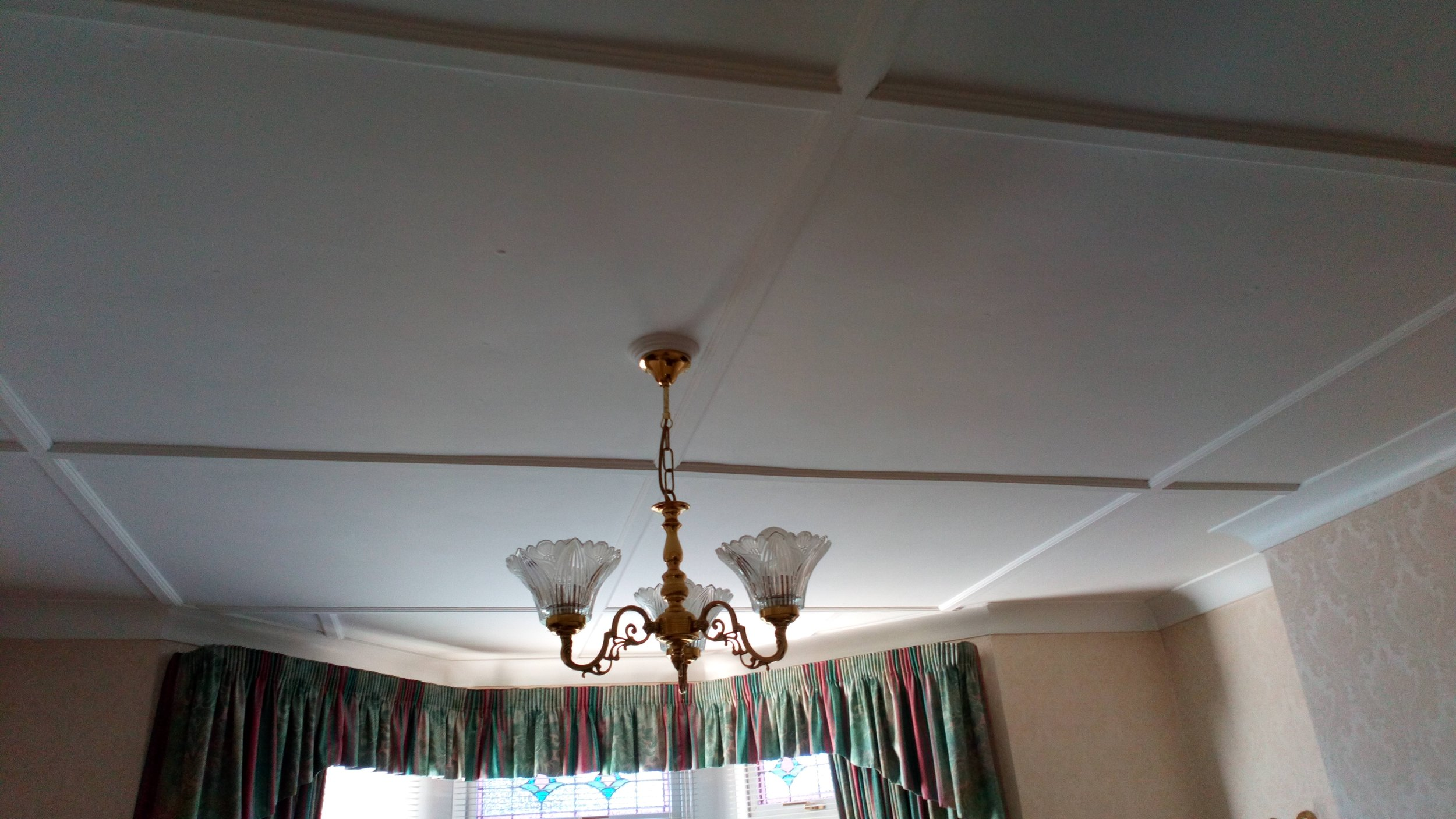Asbestos Panels to Ceiling
