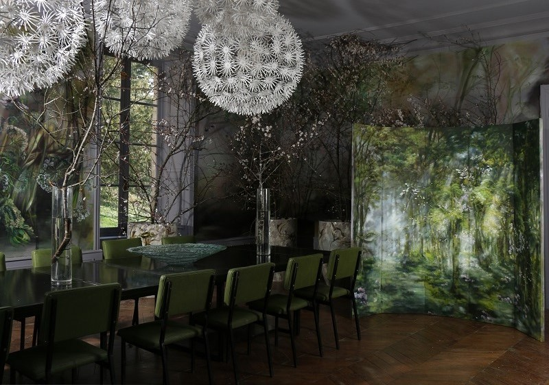 Dining room in Claire Basler's Chateau
