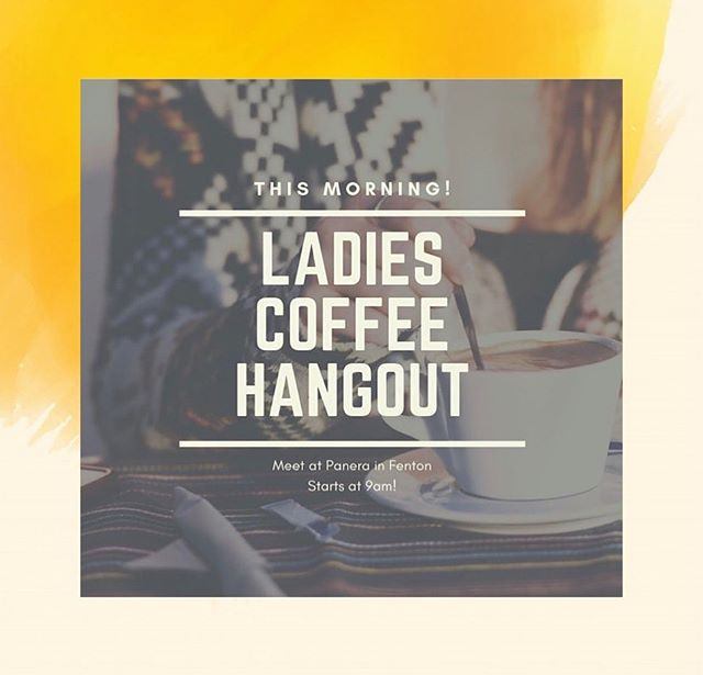 Good morning CYA ladies! Come join us today for coffee and discussion at Fenton Panera. It starts at 9am so you still have time to make it! #coffee #bettertogether