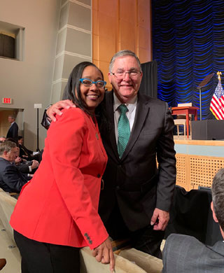 Nichole Jefferson with Texas Congressman Michael Burgess at the Presidential Signing today. The Congressman represents Denton, Tarrant, and part of Dallas county.