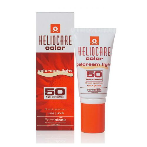 For those who hate going completely make-up free at the beach, the  Heliocare Gelcream Colour SPF50  provides both sun protection and a slight tint to even out the skin