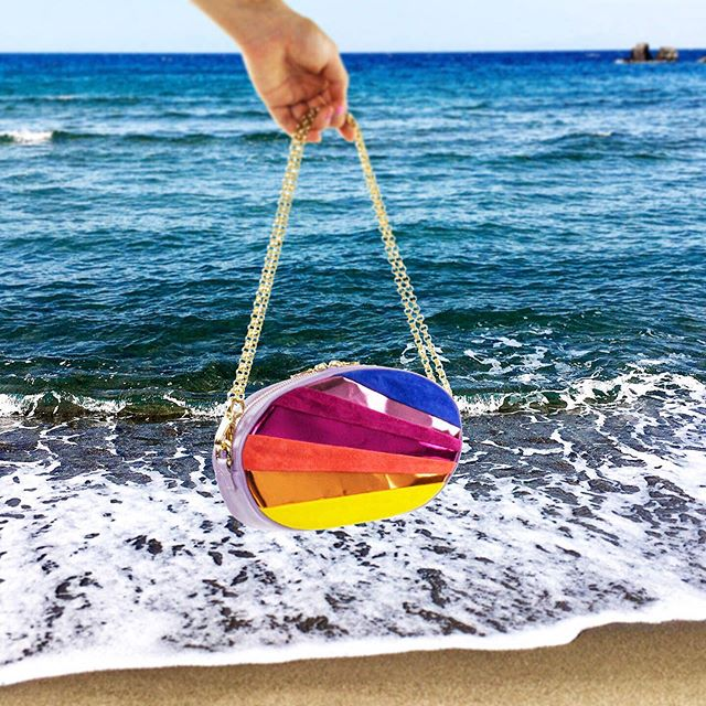 🌊🌈 Splashing around with bags of rainbows 🌈🌊 Shop the new Sunset Clutch on 👉🏼www.gemmaroe.co.uk 🏝 Summer never fades ☀️ It can fit all of your essentials and more 🙏🏽 Handmade in Italy 🇮🇹 from the finest Italian leather and gold polished hardware - all created especially for us 💖 Read more in GEMMA'S WORLD 🗺on gemmaroe.co.uk #JetSetter #Ischia #NewCollection #SunsetClutch #IslandDreams #MadeInItaly #GemmaRoe #GemmaRoeHandbags . . . #luxuryfashion #design #shop #luxury #fashion #fashiontravel #ocean #fashionblog #sunsets #sea #clutchbags #italy #island #laccoameno #handbag #bag #tropical #handmade #style #fashionweek #lfw #graroundtheworld