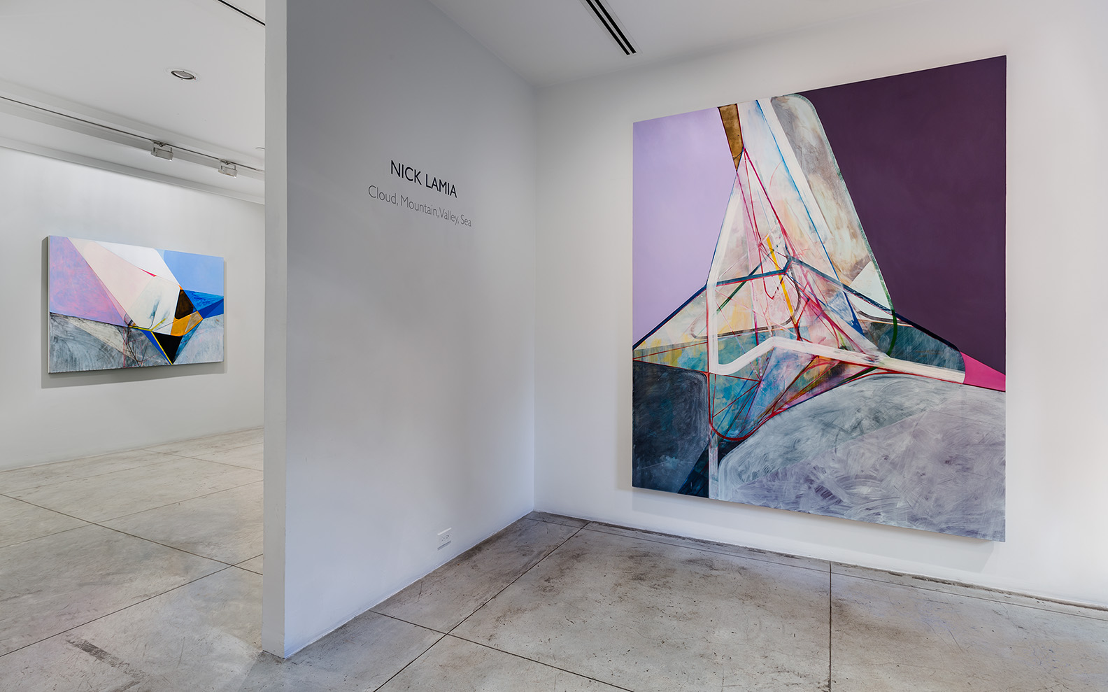 Nick Lamia: Cloud, Mountain, Valley, Sea , Installation view at Jason McCoy Gallery, 2018.