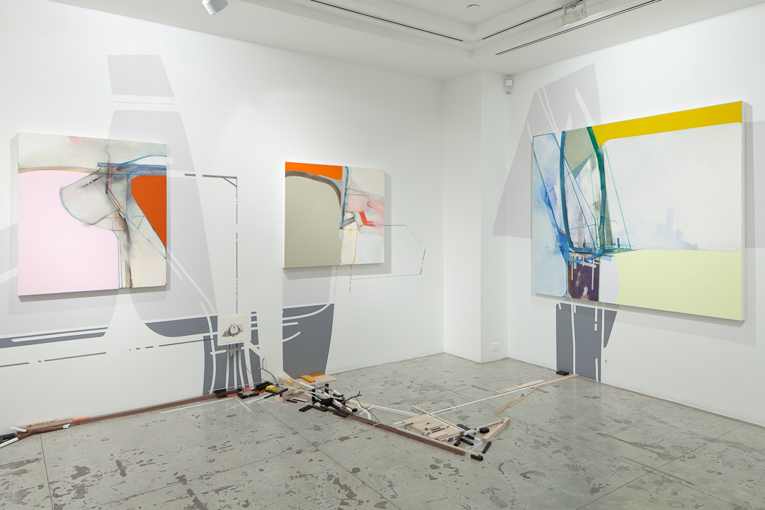 Nick Lamia: Coppice , Installation view at Jason McCoy Gallery, 2012.