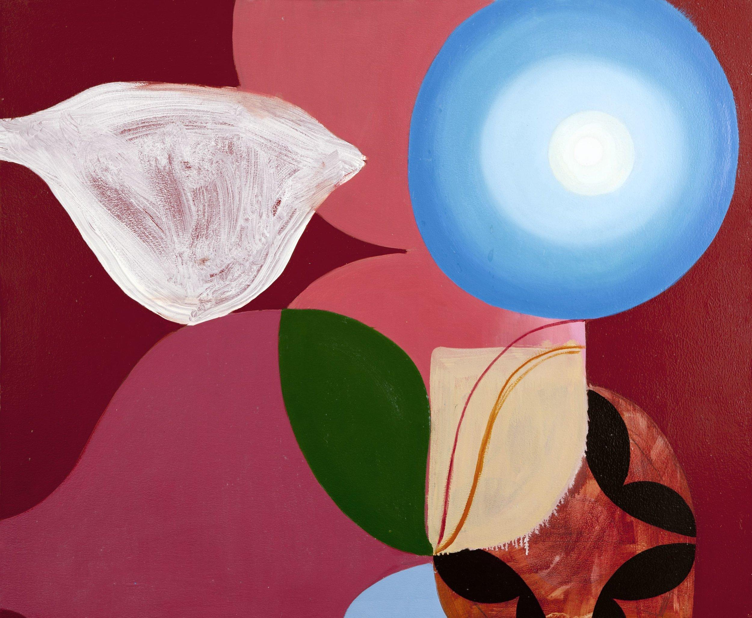 Bryan Osburn   Blue Sun , 2011 Oil on canvas 33 x 40 inches