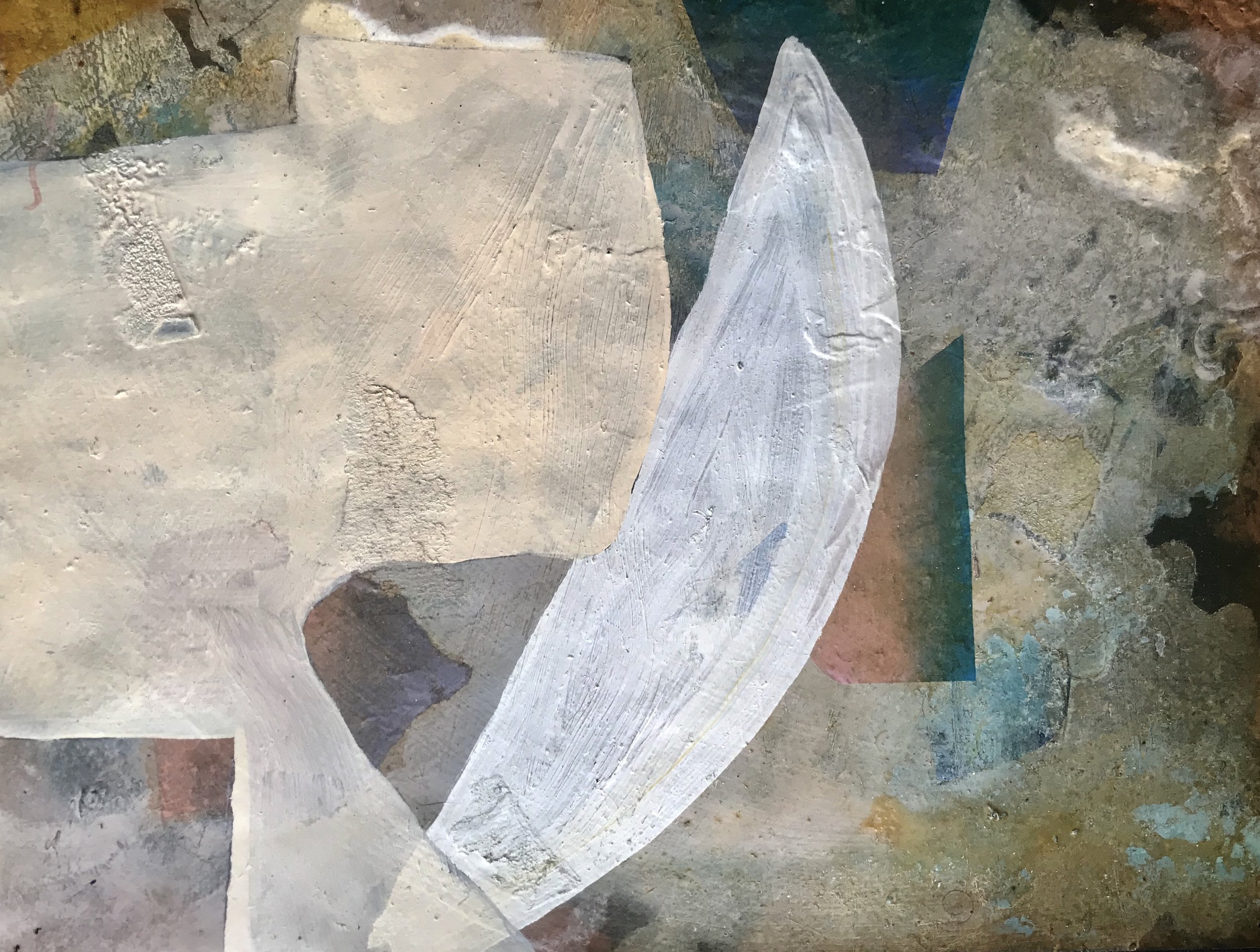 Bryan Osburn   Untitled , 2013 Oil and collage on paper 9 x 12 inches (22.9 x 30.5 cm)