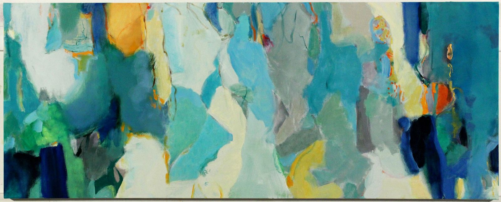 Terrell James   Confidant , 2012 Oil and acrylic on canvas 27 x 68 inches 68.6 x 172.7 cm
