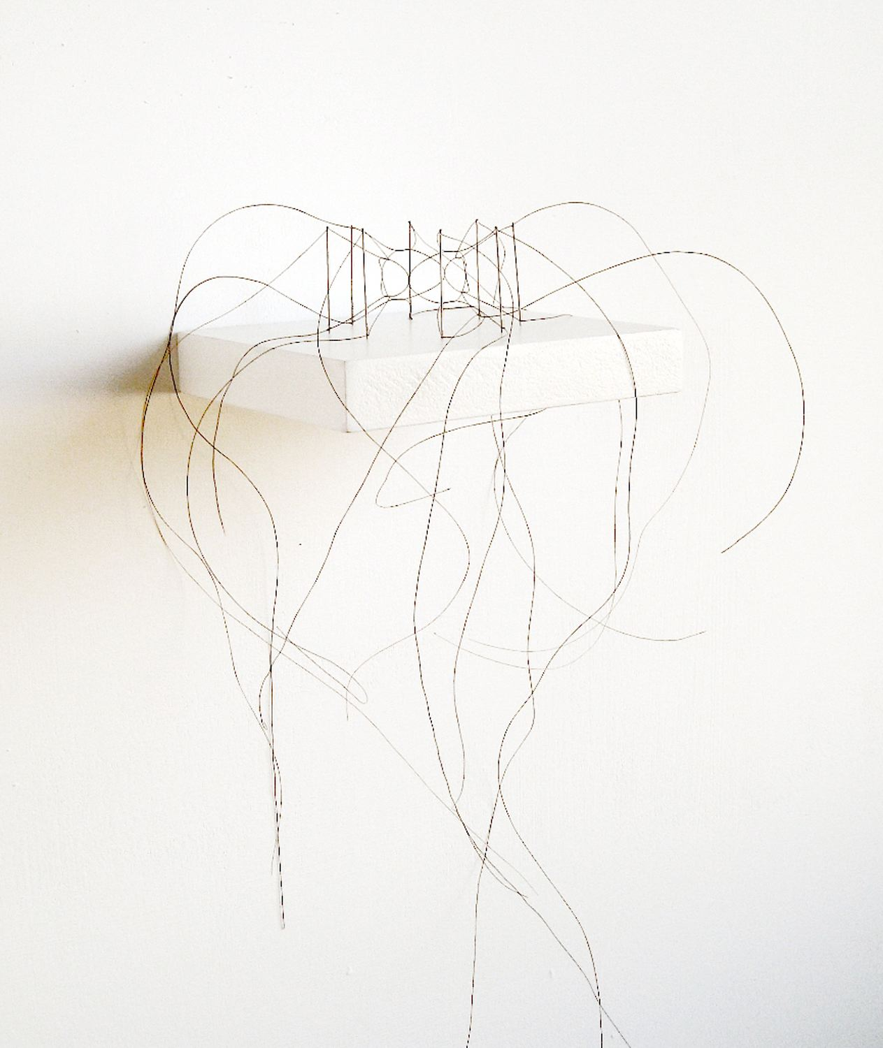 Christiane Löhr  (B. 1965)  Kleine Haararbeit / Little Hair Work , 2012 Horsehair, needles Circa: 18 1/2 x 13 1/2 x 7 1/2 inches (47 x 34 x 19 cm) Base: 3/4 x 4 3/4 x 4 inches (1.9 x 12.1 x 10.2 cm)