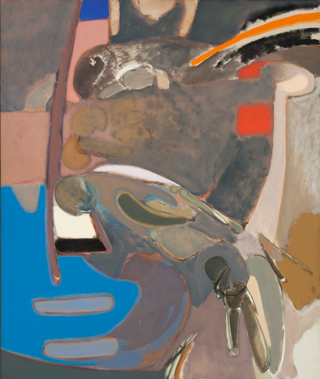 Stephen Greene  (1917-1999)  Descent , 1963 Oil on canvas 80 x 68 inches 203.2 x 172.7 cm