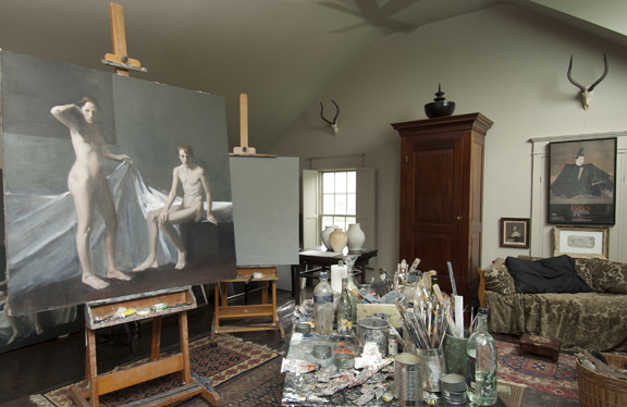 Raymond Han's Studio, Photographed in Cooperstown, New York, 2013.