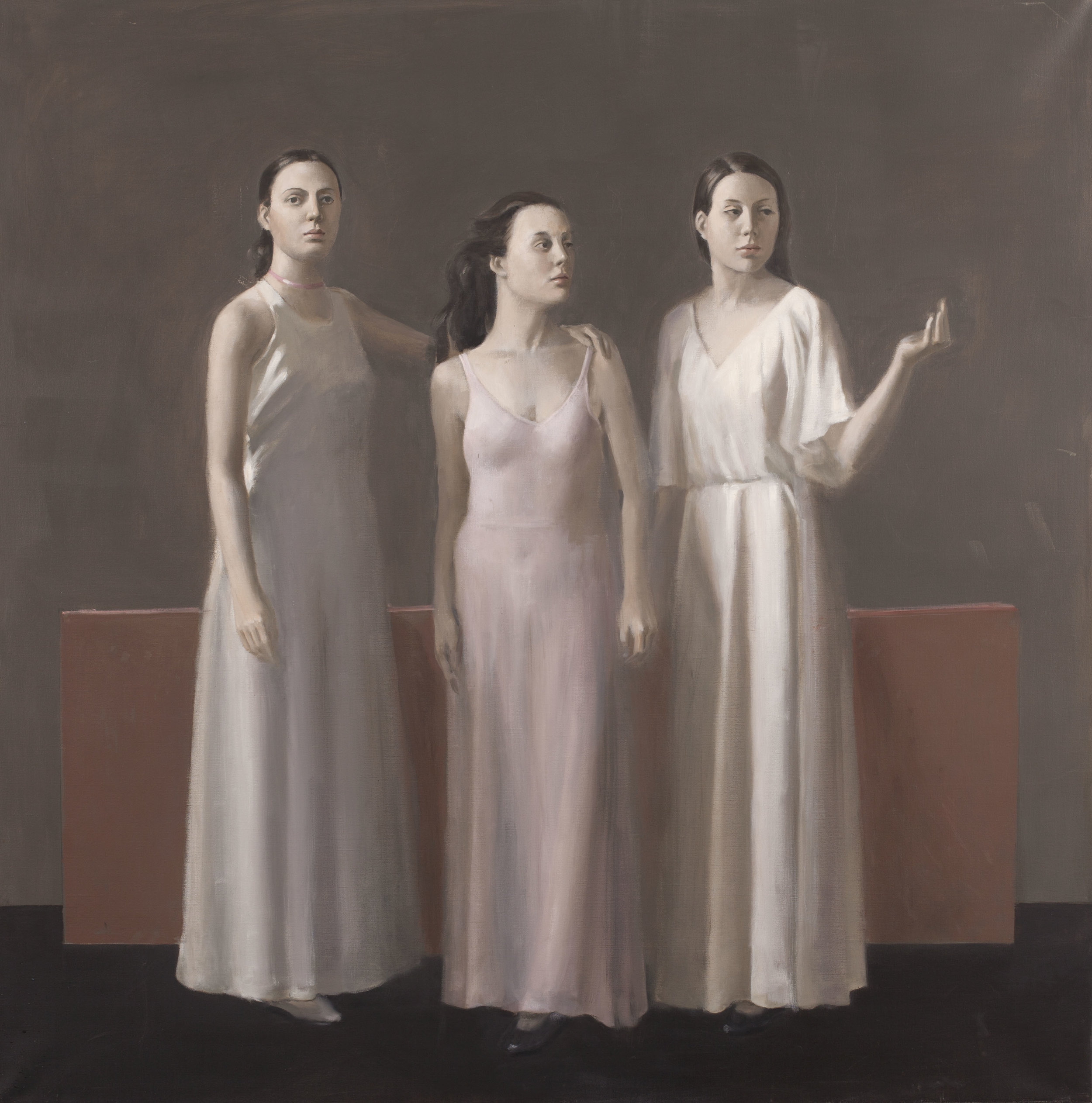 Raymond Han  (1931-2017)  Untitled (Three Sisters) , ca. 2003 Oil on linen 34 x 36 inches 86.4 x 91.4 cm
