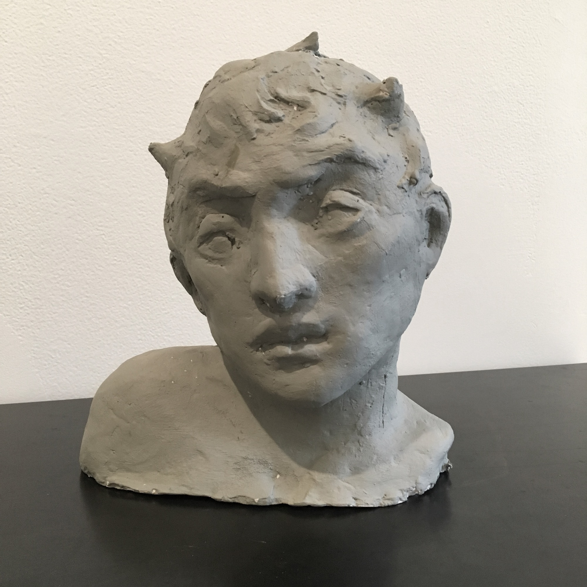 Raymond Han    Untitled , 2015-2017  Plaster cast  8 1/2 x 8 x 5 3/4 inches  21.6 x 20.3 x 14.6 cm  Limited edition plaster casts available through the Estate of Raymond Han