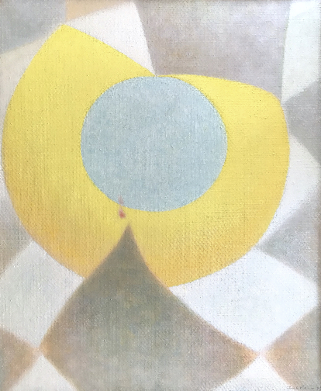 Spider's Web on a Rainy Day , 1977, Oil on linen, 18 1/8 x 15 inches