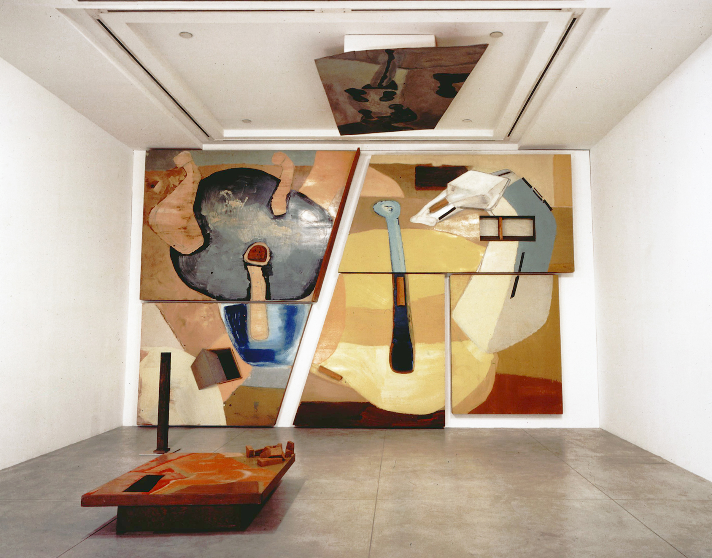 Frederick Kiesler,  Large Horse Galaxy,  1954, Mixed media installation consisting of six wall panels, one table, one floor piece and one ceiling piece. Dimensions vary. Collection of The Estate of Frederick Kiesler, New York