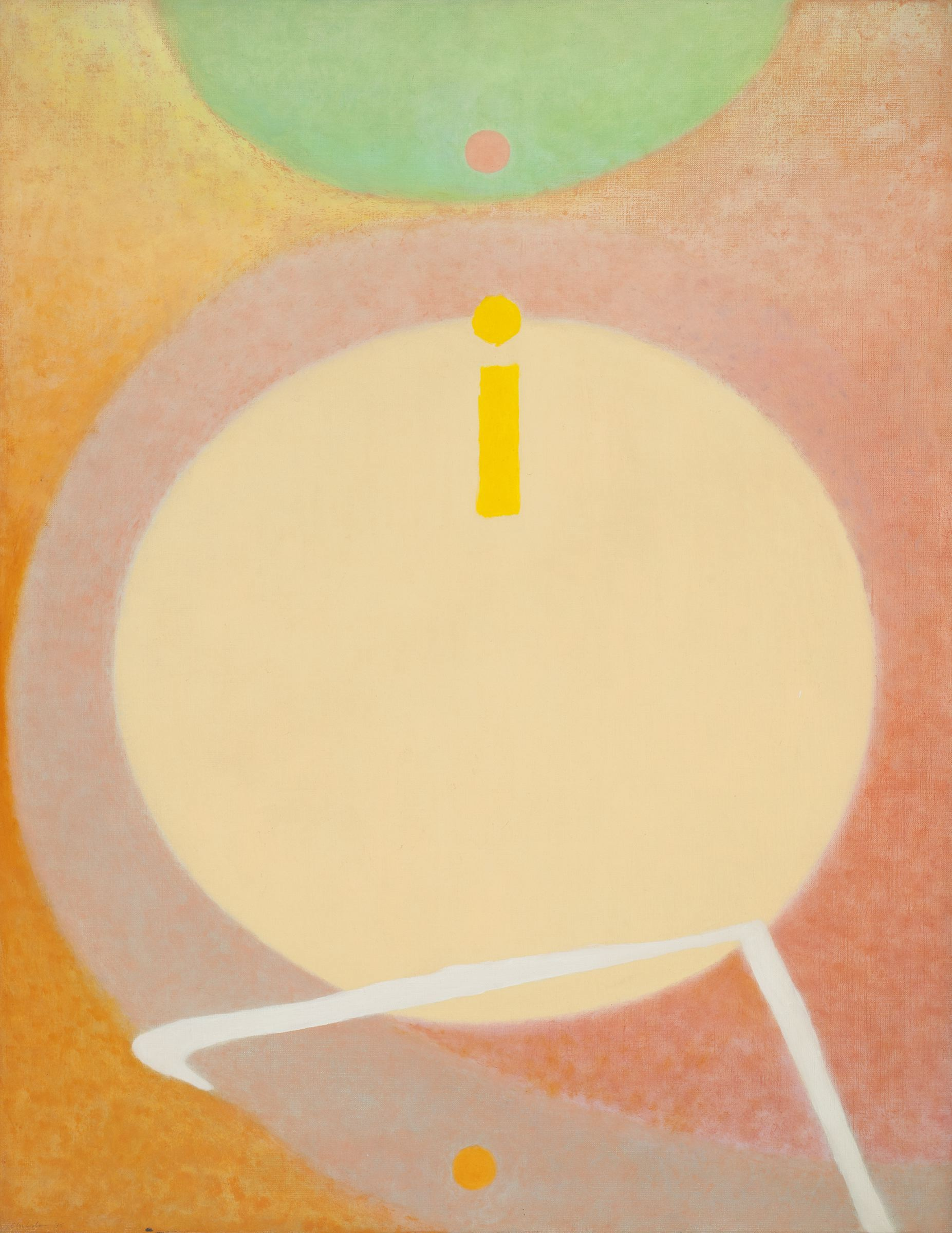 Bernard Childs  (1910-1985)  Round the Bend (Requiem for Y. Tabuchi, père) , 1975 Oil on canvas 25 7/16 x 18 1/4 inches 64.6 x 46.4 cm