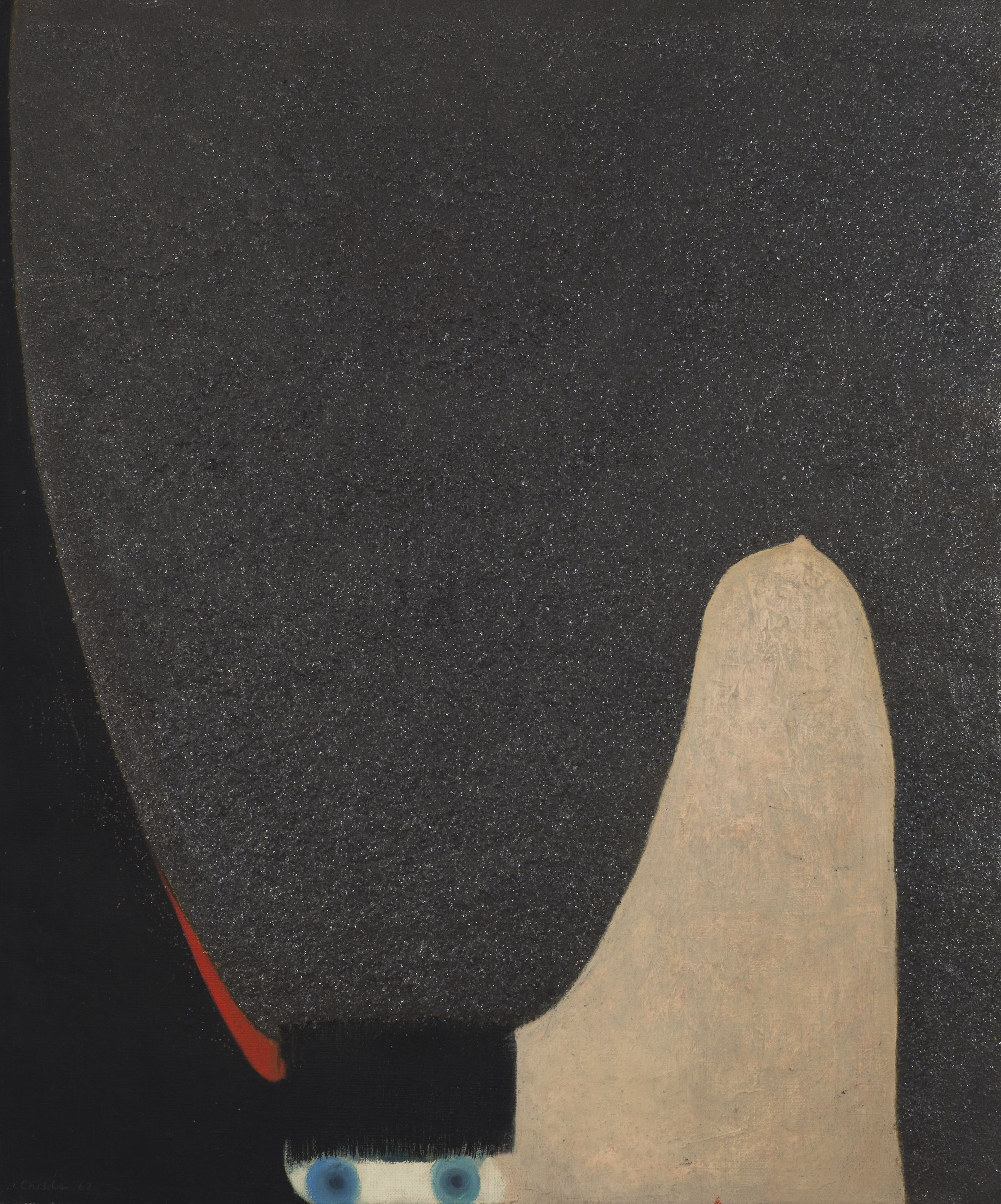 Bernard Childs  (1910-1985)  Carmen , 1962 Oil, carborundum and graphite on canvas 21 3/4 x 18 1/4 inches 55.2 x 46.4 cm