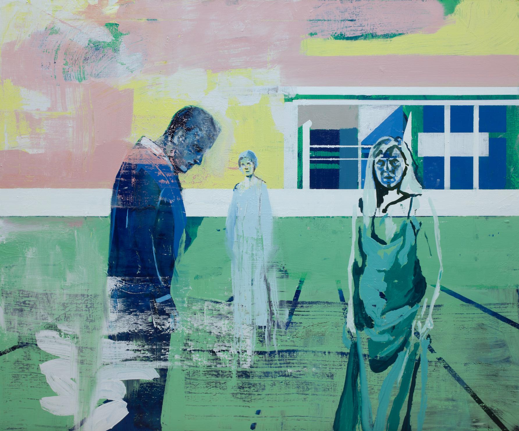Kenneth Blom  (B. 1967)  Stay , 2019 Oil on canvas 39 2/5 x 47 1/5 inches 100 x 120 cm