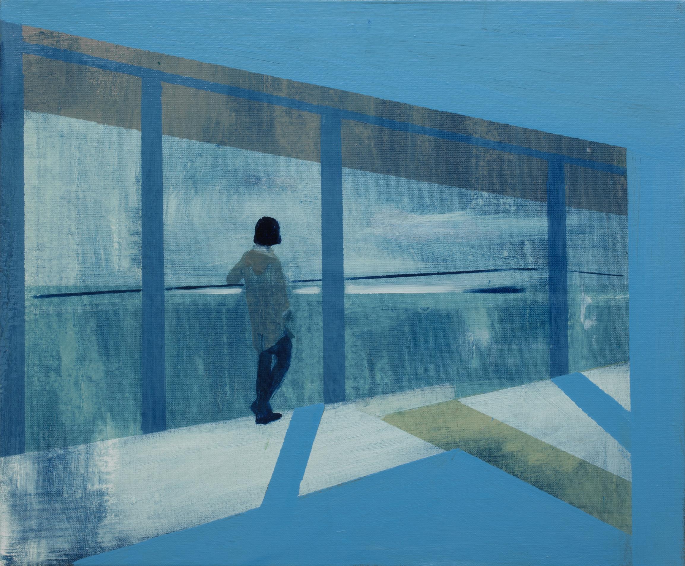 Kenneth Blom  Intruder II , 2019 Oil on canvas 19 7/10 x 23 3/5 inches (50 x 60 cm)