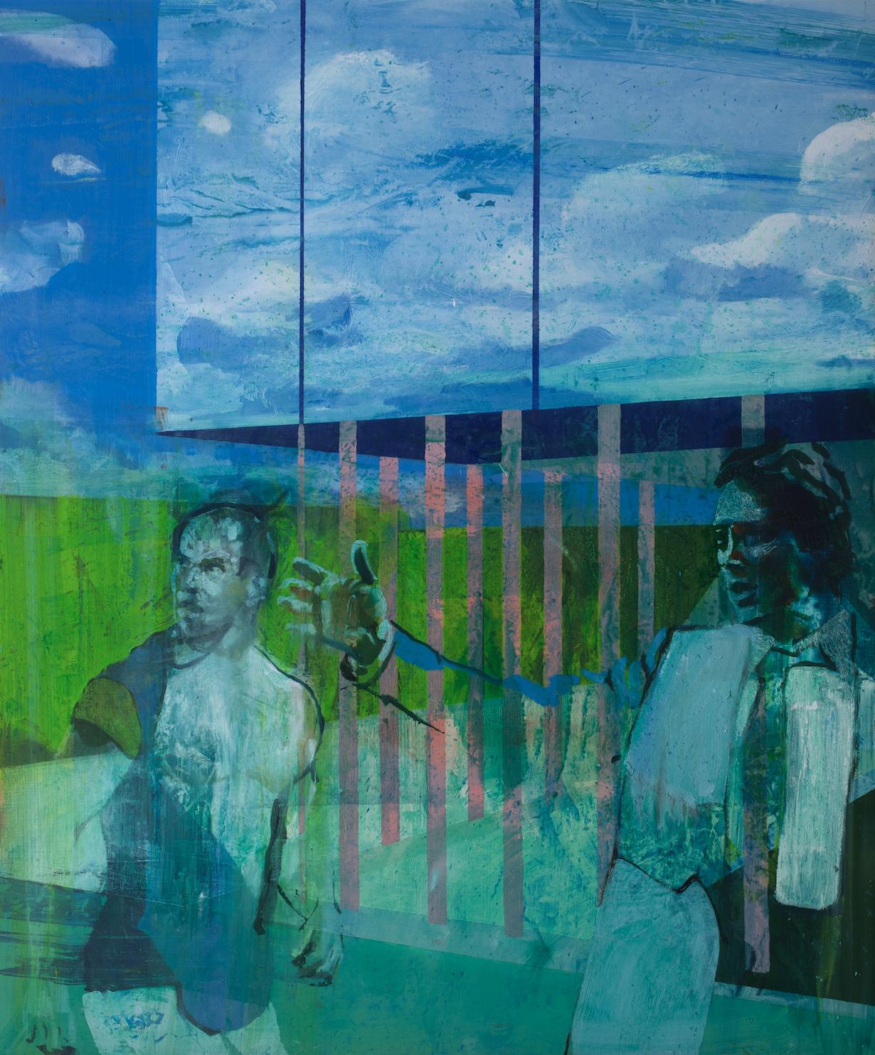 Kenneth Blom  (B. 1967)  No , 2019 Oil on canvas 39 2/5 x 47 1/5 inches 100 x 120 cm