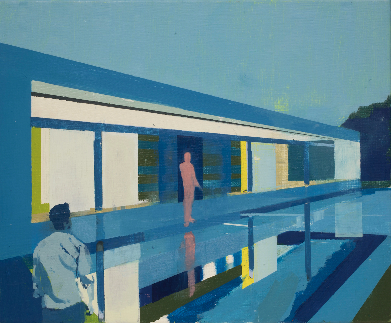 Kenneth Blom  (B. 1967)  Shade , 2019 Oil on canvas 19 7/10 x 23 3/5 inches 50 x 60 cm