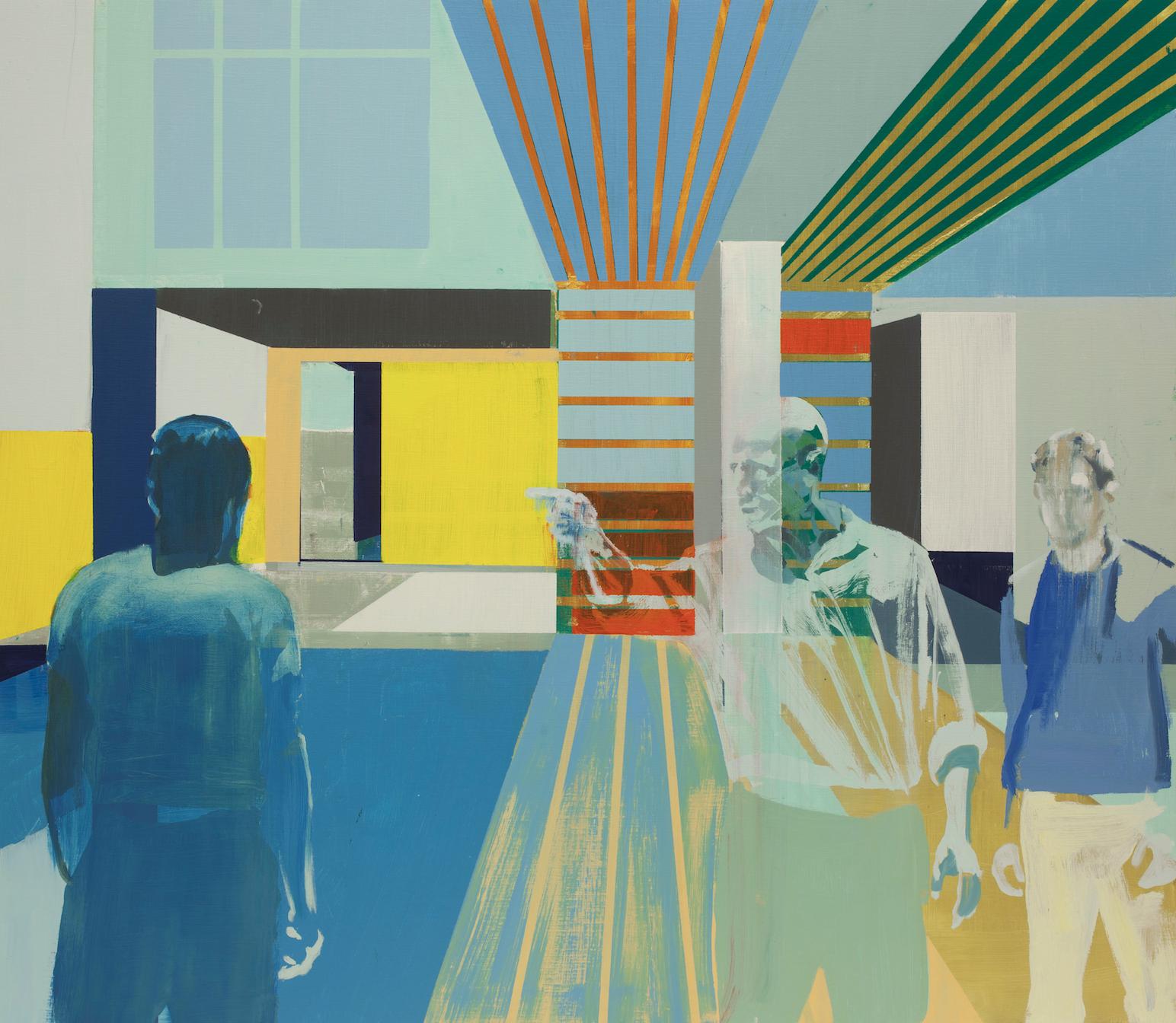 Kenneth Blom,  Tiger , 2019, Oil on canvas, 55 x 63 inches, 140 x 160 cm.